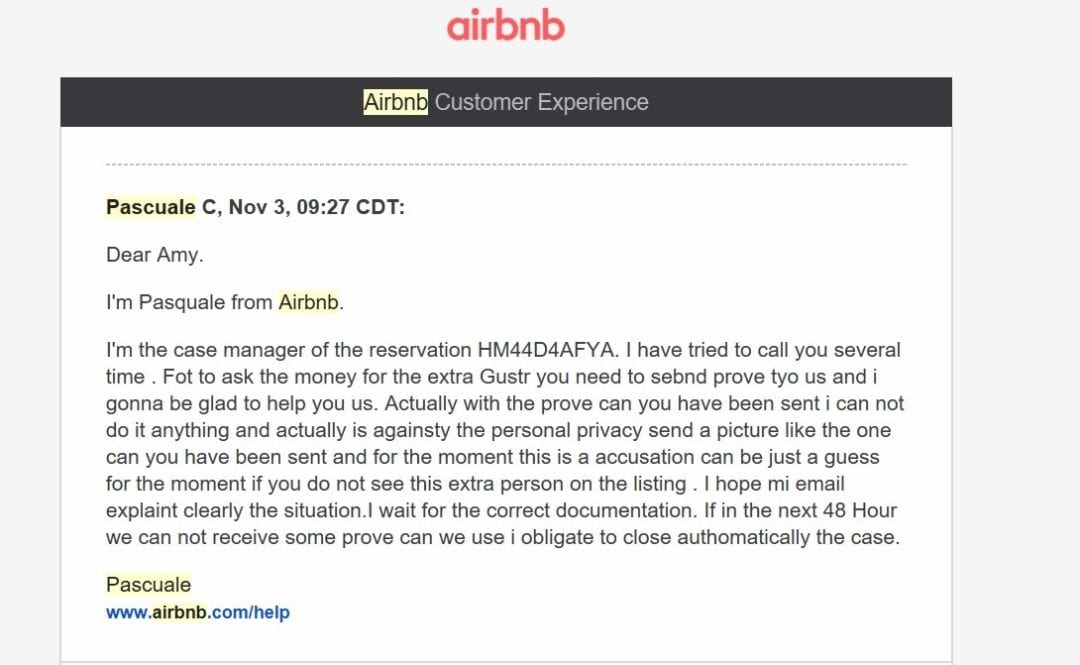 Bullied by Terrible Guest and Case Managers - Airbnb Hell