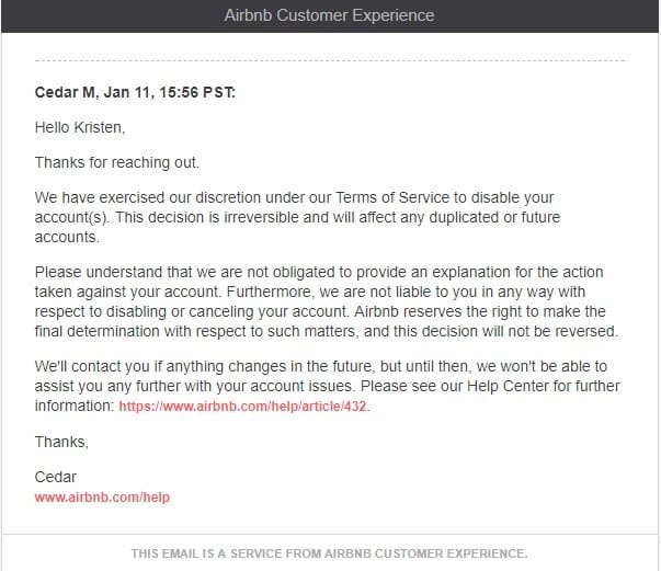 how to cancel airbnb account