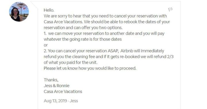 Strict Cancellation Policy Costs me Hundreds - Airbnb Hell